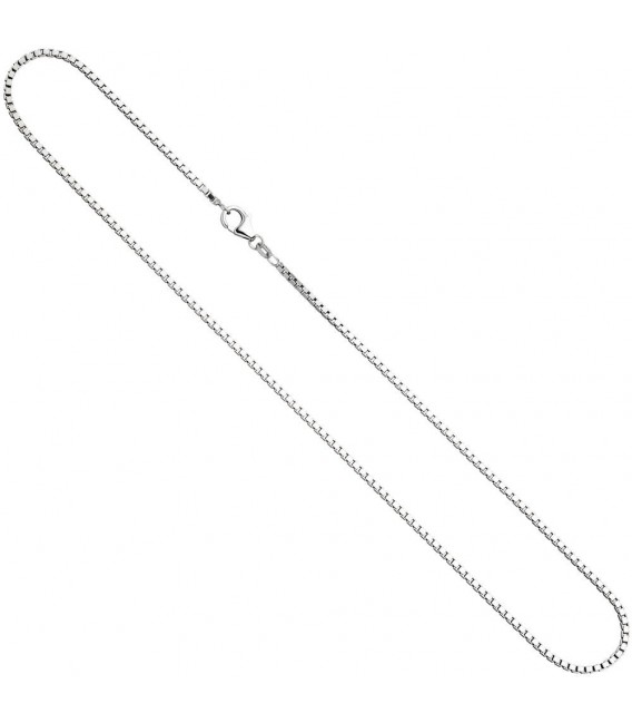 Venezianerkette 925 Silber 1,8 mm 60 cm Halskette Kette Silberkette Karabiner. ...