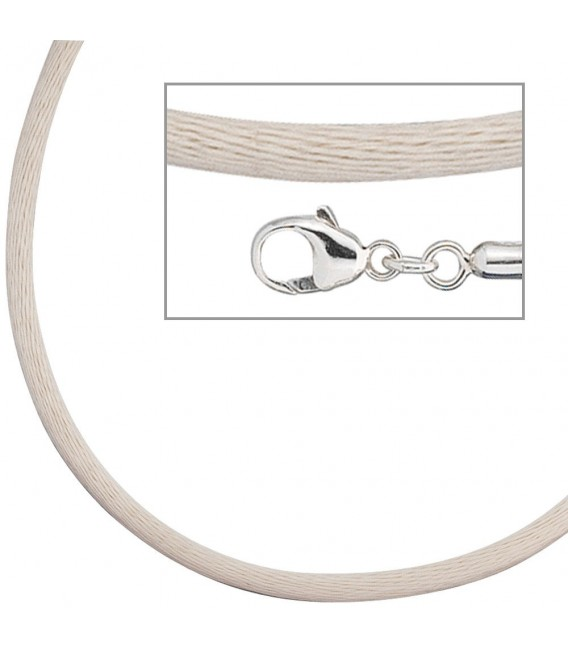 Collier Halskette Seide beige - 4053258104309