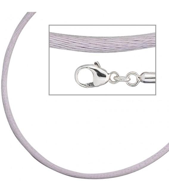 Collier Halskette Seide flieder - 4053258104316