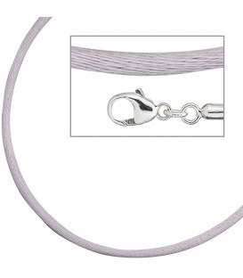 Collier Halskette Seide flieder - 4053258104316 Produktbild