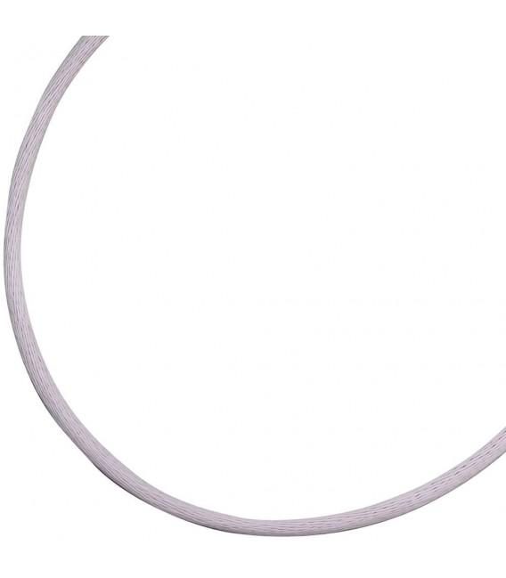 Collier Halskette Seide flieder 2,8 mm 42 cm, Verschluss 925 Silber Kette.