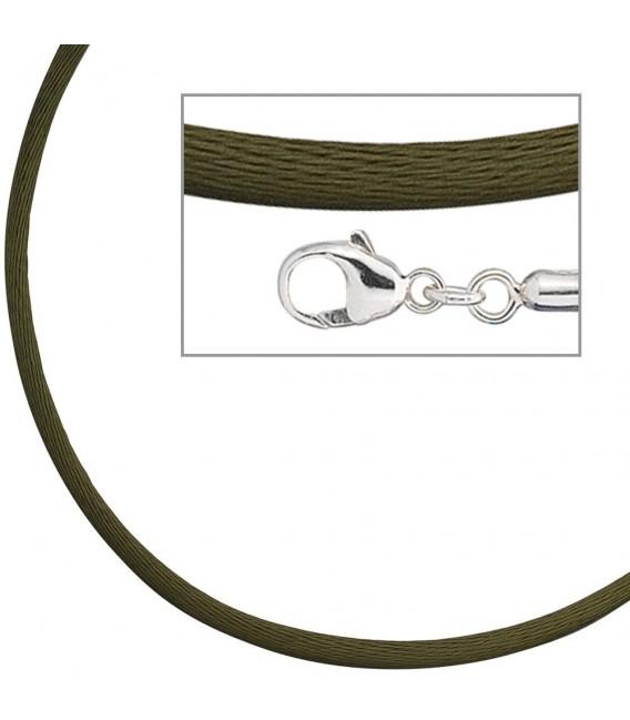 Collier Halskette Seide oliv - 4053258104323 Zoom