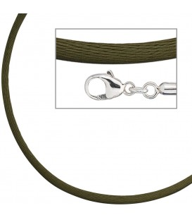 Collier Halskette Seide oliv - 4053258104323 Produktbild