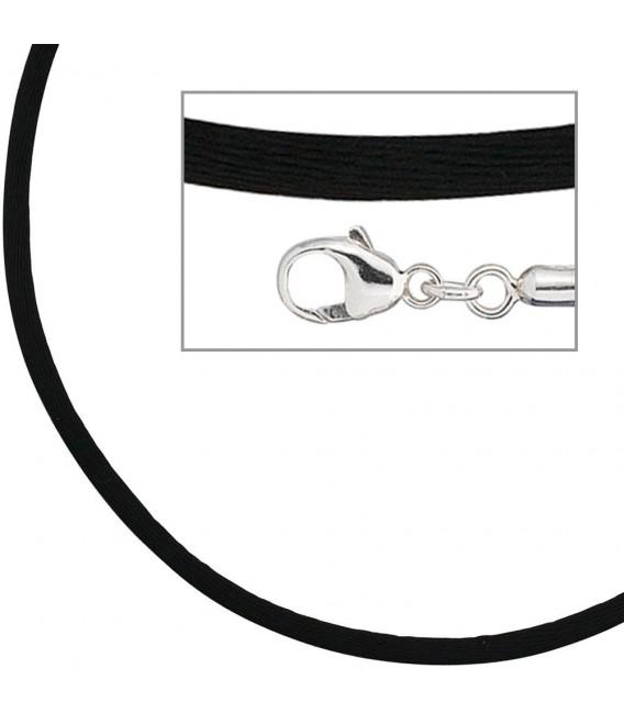 Collier Halskette Seide schwarz - 4053258104330 Zoom