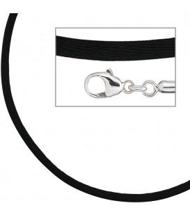 Collier Halskette Seide schwarz - 4053258104330
