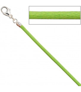 Collier Halskette Seide hellgrün - 4053258104354 Produktbild