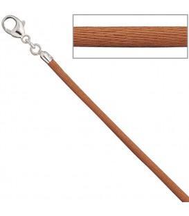 Collier Halskette Seide kupfer - 4053258104361