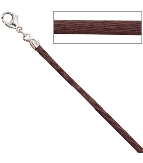 Collier Halskette Seide braun - 4053258104378