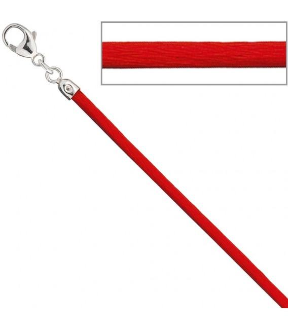 Collier Halskette Seide rot - 4053258104385