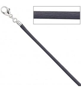Collier Halskette Seide grau - 4053258104392