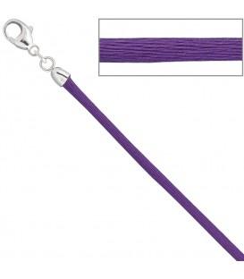Collier Halskette Seide lila - 4053258104415