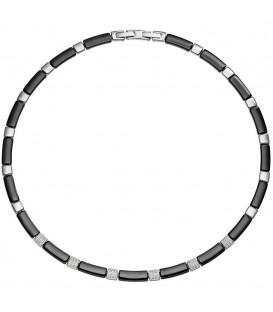 Collier Halskette aus schwarzer - 4053258308424