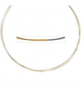 Halsreif 5-reihig bicolor vergoldet - 4053258106389 Produktbild