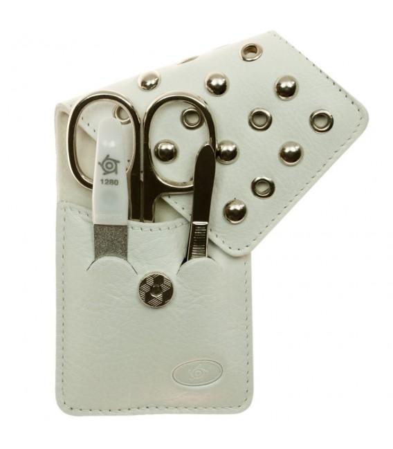 Pfeilring Taschen-Maniküretui Nappaleder weiß - 4003349008269