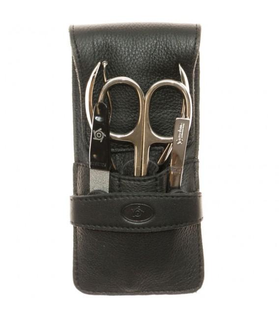 Pfeilring Taschen-Maniküretui Nappaleder schwarz - 4003349007477
