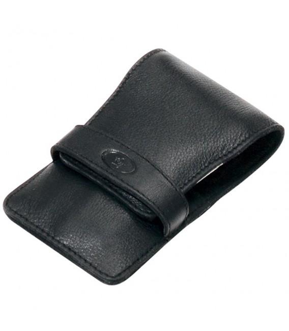Pfeilring Taschen-Maniküretui, Nappaleder, schwarz, 4-teilige Bestückung.