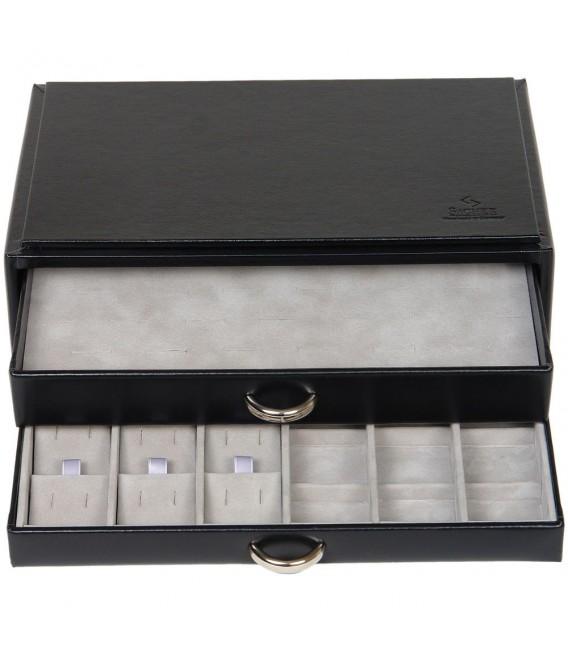 Sacher Schmuckkassette schwarz stapelbar - 4031604007818