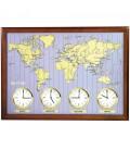 Rhythm 7902 Wanduhr Weltzeit-Uhr - 41692