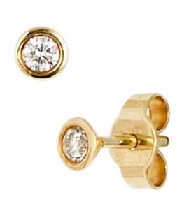 Ohrstecker rund 585 Gold - 4053258035153