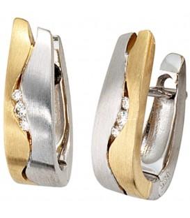 Creolen 585 Gold Weißgold - 4053258045077