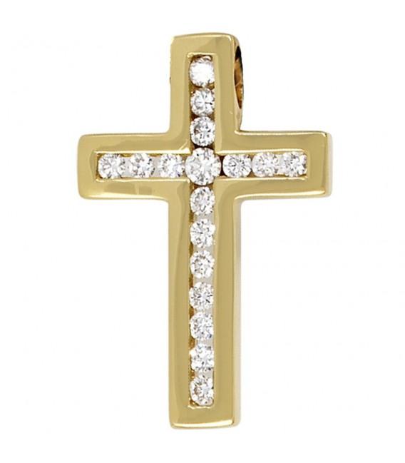 Anhänger Kreuz 585 Gold - 4053258035634