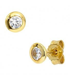 Ohrstecker rund 333 Gold - 4053258047170