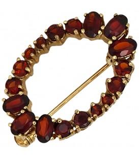 Brosche Granat 375 Gold - 4053258303641