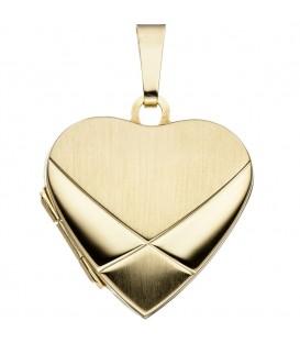 Medaillon Herz 585 Gold - 4053258062456