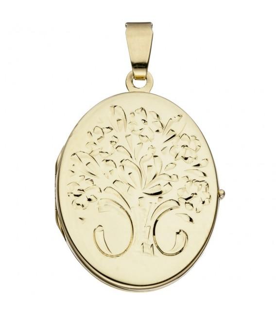 Medaillon oval Blumen 585 - 4053258062395