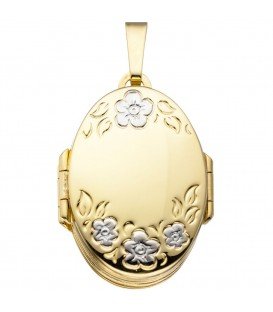 Medaillon oval mit Blumen - 4053258295243