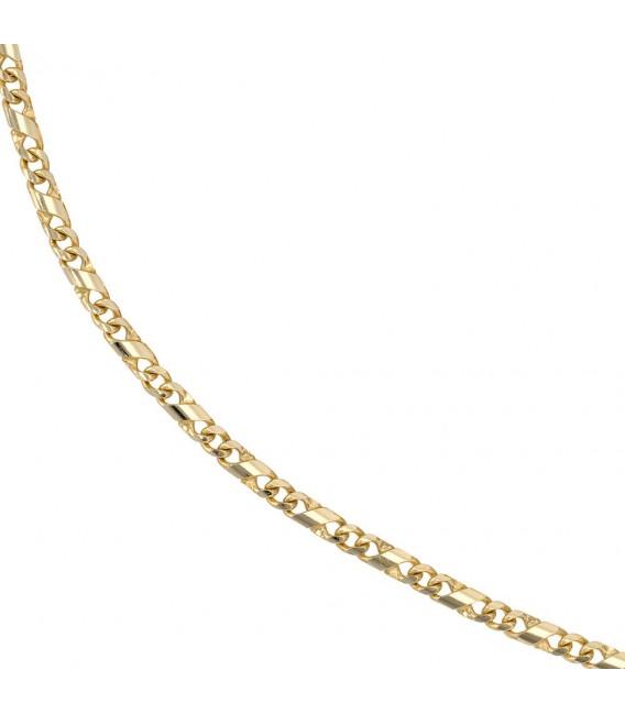 Halskette Kette 333 Gold Gelbgold massiv 45 cm Goldkette Karabiner.