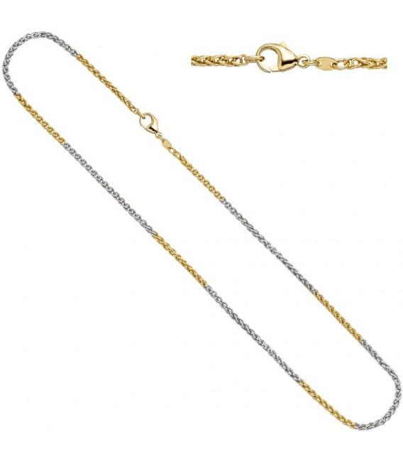 Zopfkette 585 Gelbgold Weißgold - 4053258063590