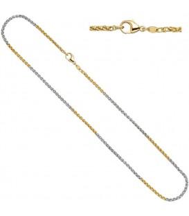 Zopfkette 585 Gelbgold Weißgold - 4053258063590 Produktbild