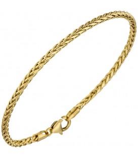 Zopfarmband 585 Gold Gelbgold - 4053258255681