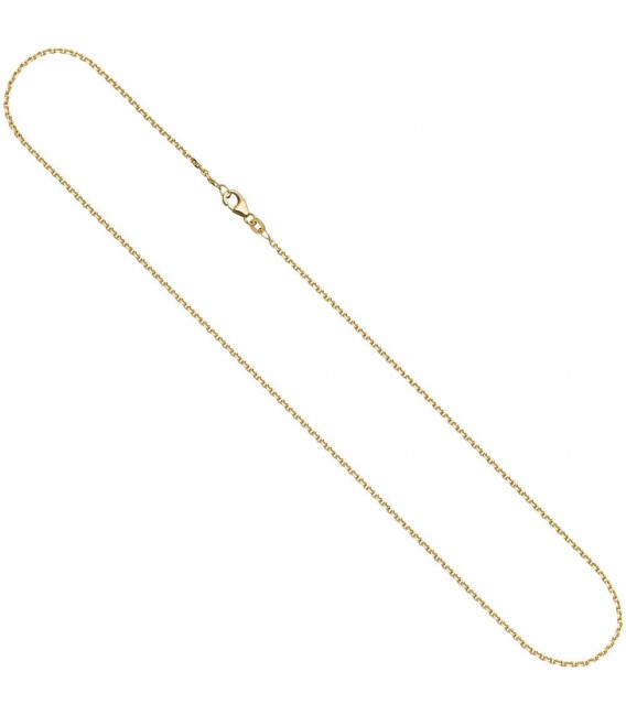 Ankerkette 333 Gelbgold diamantiert 1,2 mm 38 cm Gold Kette Halskette Goldkette. ...