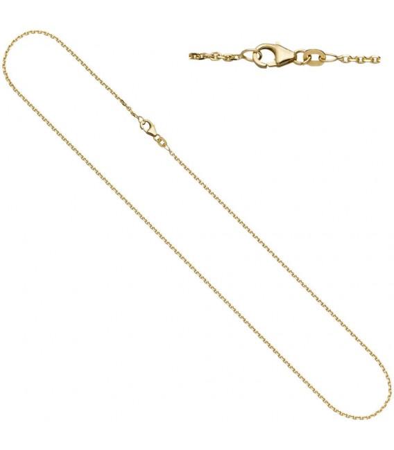 Ankerkette 333 Gelbgold diamantiert - 4053258065006