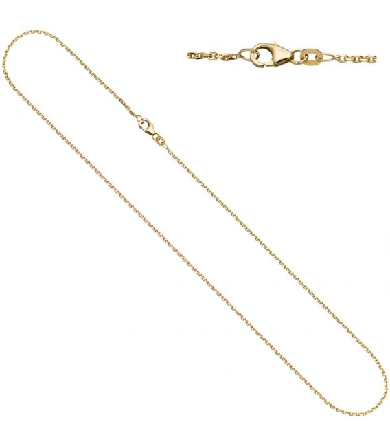 Ankerkette 333 Gelbgold diamantiert - 4053258065075