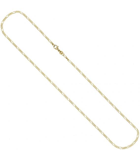 Figarokette 333 Gelbgold 2,3 mm 45 cm Gold Kette Halskette Goldkette Karabiner.