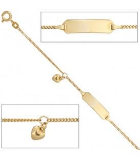 Schildband Herz 585 Gold - 4053258257371 Produktbild