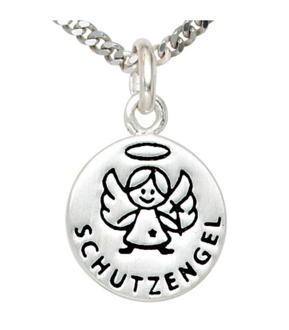 Kinder Anhänger Engel Schutzengel 925 Silber mit Lackeinlage Kinderanhänger.
