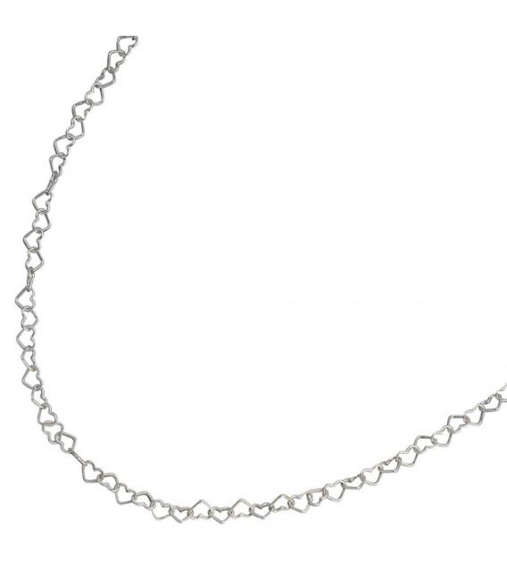 Kinder Collier Halskette aus Herzen Herzchen 925 Sterling Silber 35 cm Kette.
