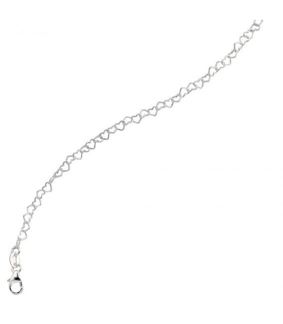 Kinder Armband Herzen Herzchen 925 Silber 14,5 cm Herzarmband Kinderarmband.