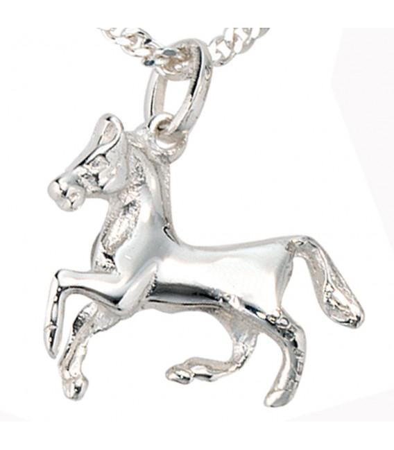 Kinder Anhänger Pferd 925 Sterling Silber Pferdeanhänger Kinderanhänger. Bild 3