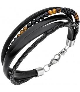 Armband Leder schwarz mit - 4053258334119