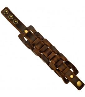 Armband breit Leder braun - 4053258340035