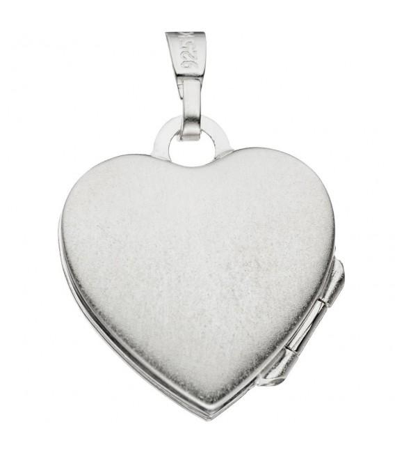 Kinder Medaillon Herz Engel Schutzengel für 2 Fotos 925 Silber Kindermedallion.