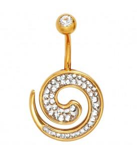 Bauchnabel Piercing Edelstahl gold - 4053258223239