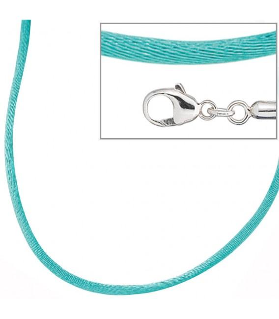 Collier Halskette Seide türkis - 4053258103708 Zoom