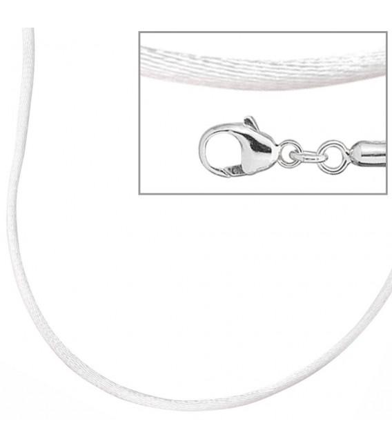 Collier Halskette Seide weiss - 4053258103722