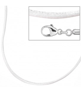 Collier Halskette Seide weiss - 4053258103722 Produktbild